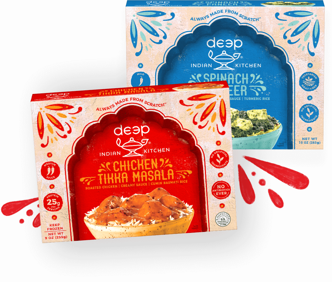 Flavorful Indian Meals, Appetizers, Breads & Snacks, Right In The Frozen Aisle